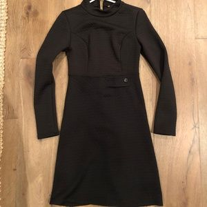 Modcloth, Black, Long Sleeve Dress in Small